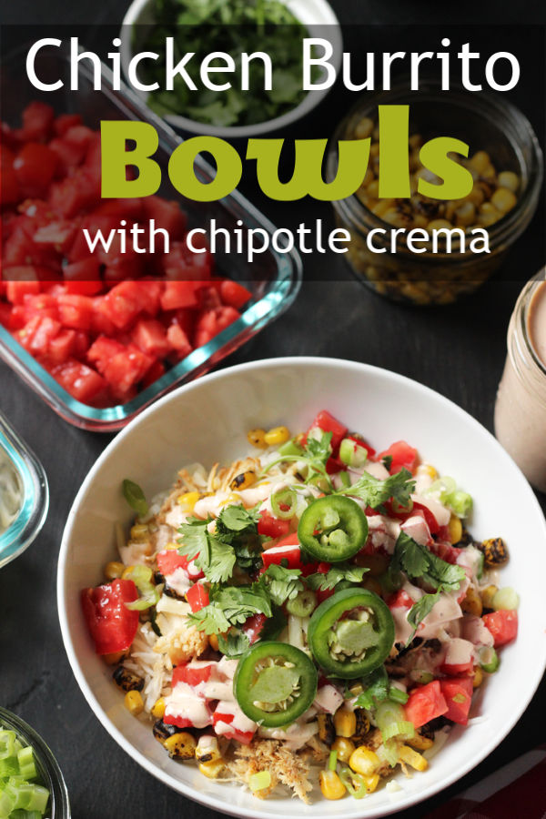 Chicken Burrito Bowls With Chipotle Crema | Good Cheap Eats