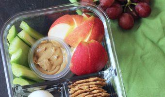 grapes next to protein bento box