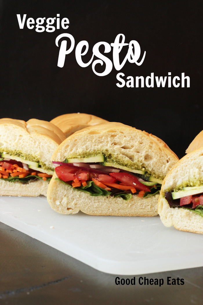 Veggie Pesto Sandwich | Good Cheap Eats