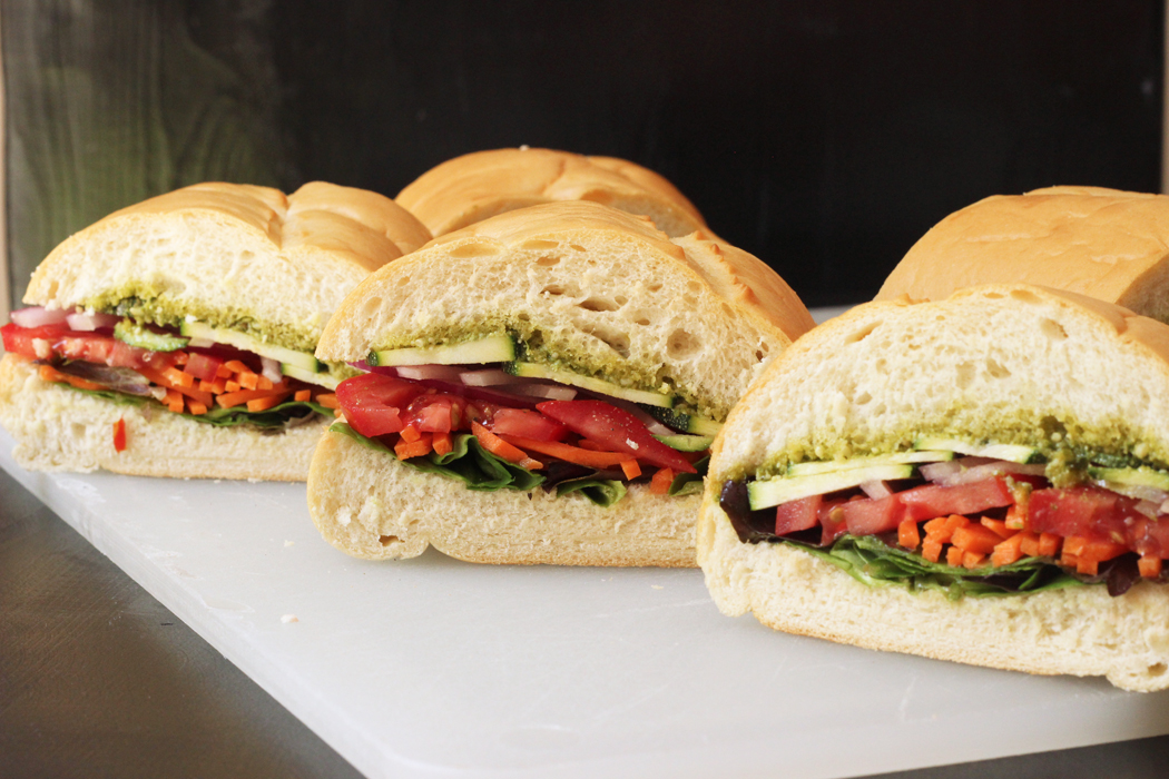 The Veggie Pesto Sandwich That S Perfect For Packing