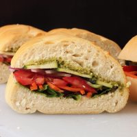 The Veggie Pesto Sandwich That's Perfect for Packing