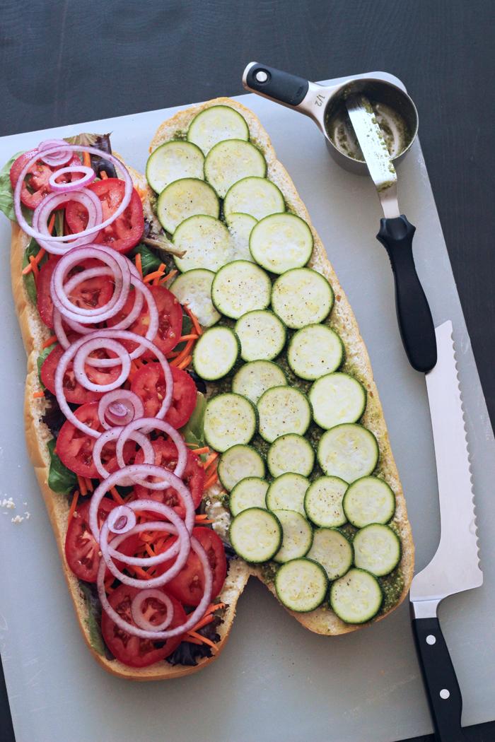 Veggie Pesto Sandwich | Good Cheap Eats