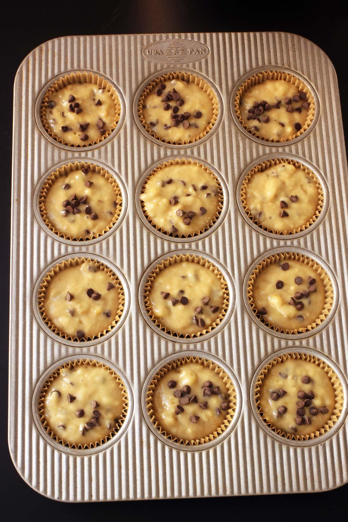 muffin batter in usa pan