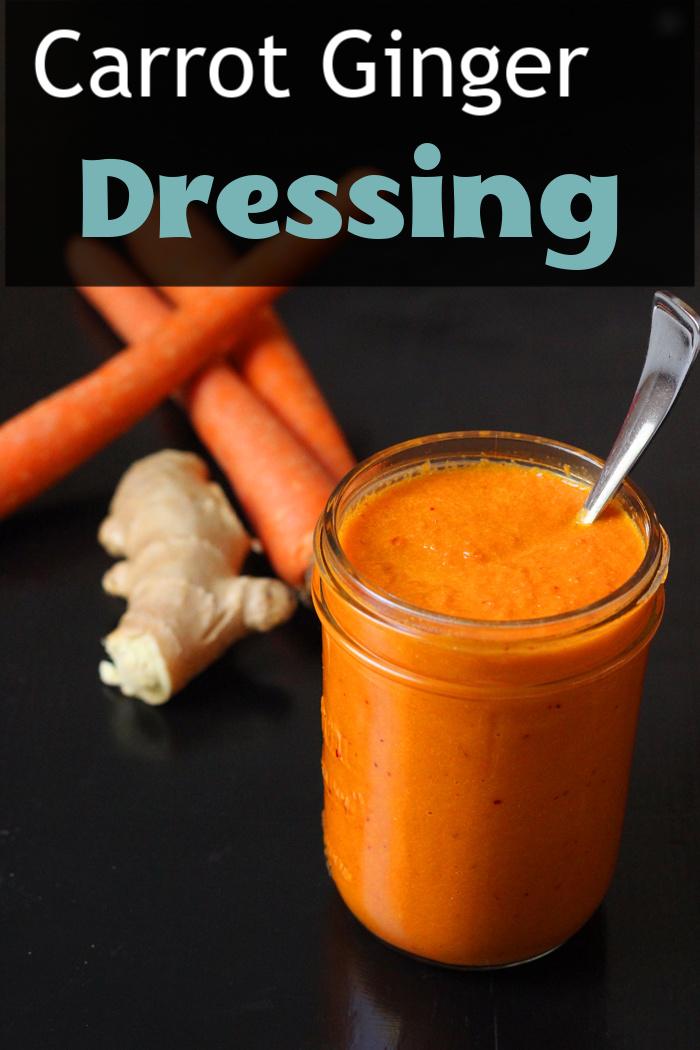 jar of carrot ginger dressing