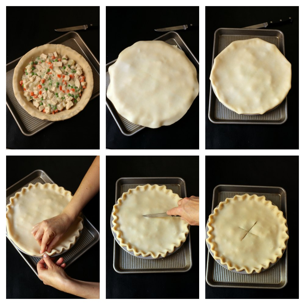 step by step photos of assembling the pie