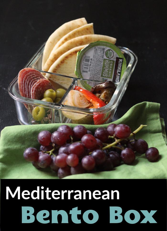 A close up of Mediterranean snack box