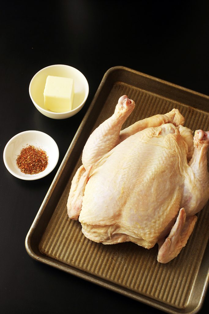 ingredients for roasting a whole chicken in the slow cooker