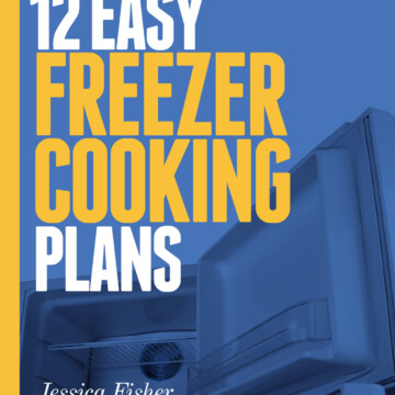 cover for 12 easy freezer cooking plans