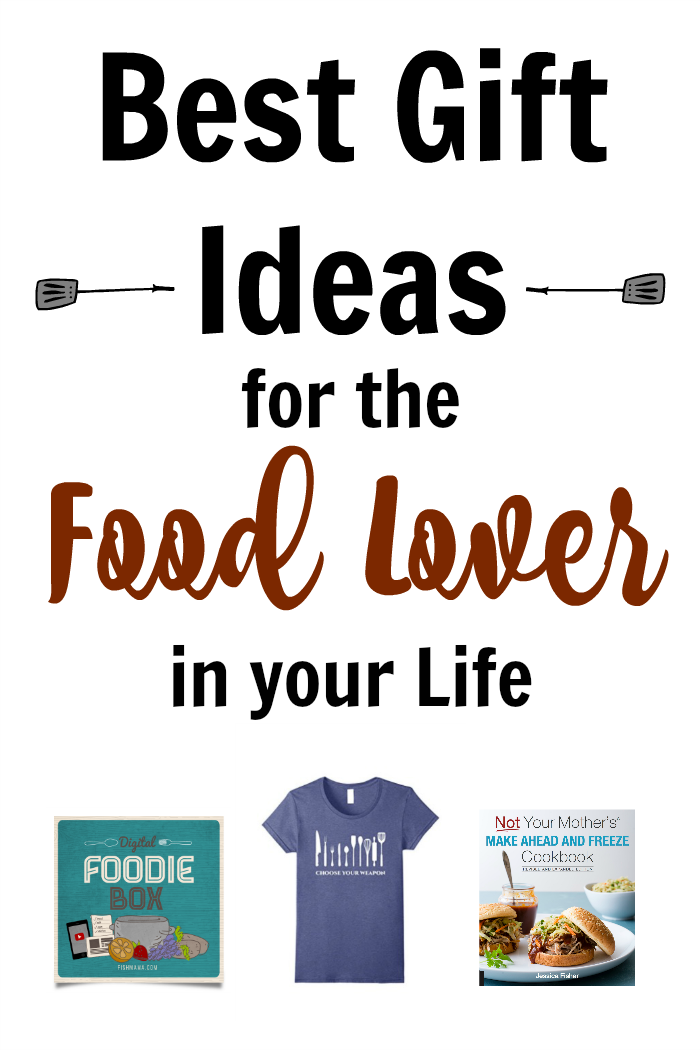 collage of gift ideas for food lovers