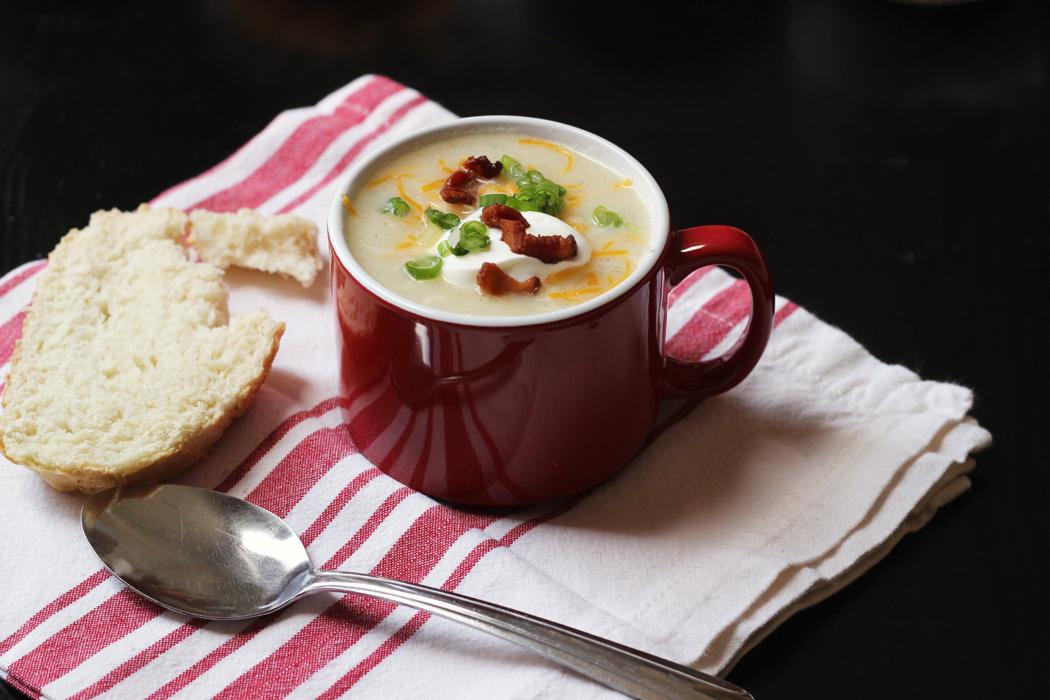 A mug of Potato Soup