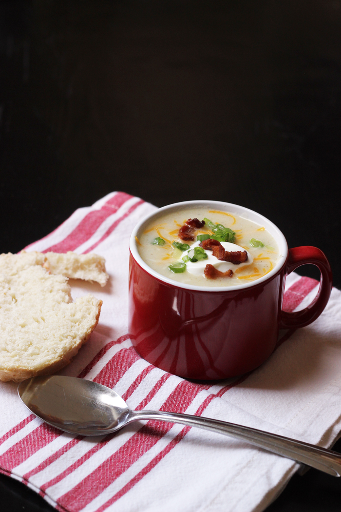 Chunky Potato Soup with Bacon & Tarragon