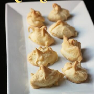 platter of lemon meringues