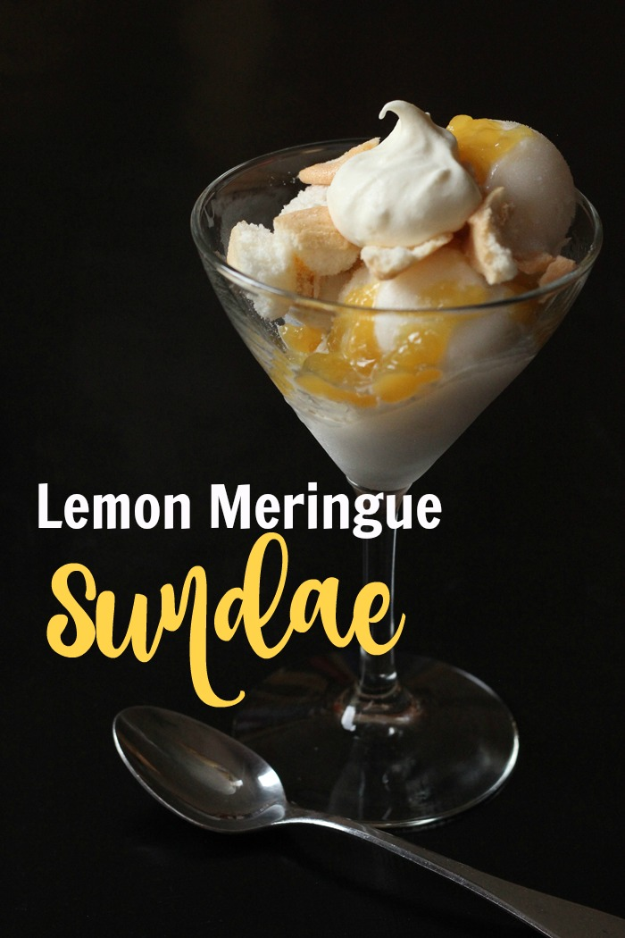 Lemon Meringue Sundae In a Martini Glass