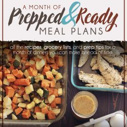 cover of A Month of Prepped & Ready Meal Plans