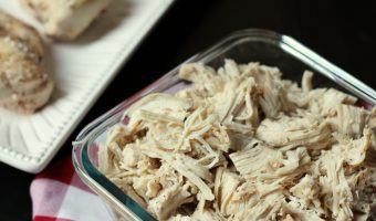 poached and shredded chicken
