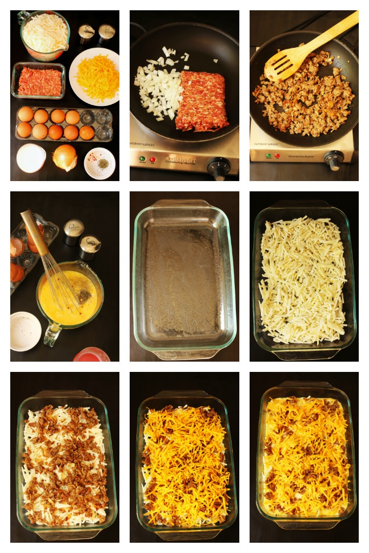 step by step photos to make egg casserole
