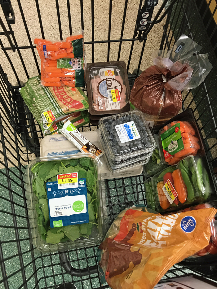 groceries in a cart
