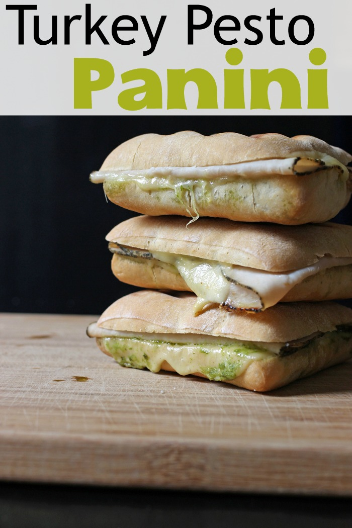 stack of turkey pesto paninis