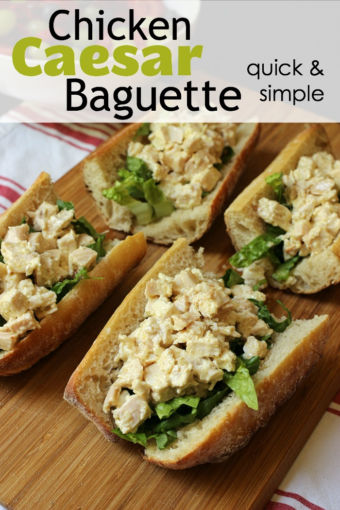 Chicken Caesar Baguette Sandwiches | Good Cheap Eats