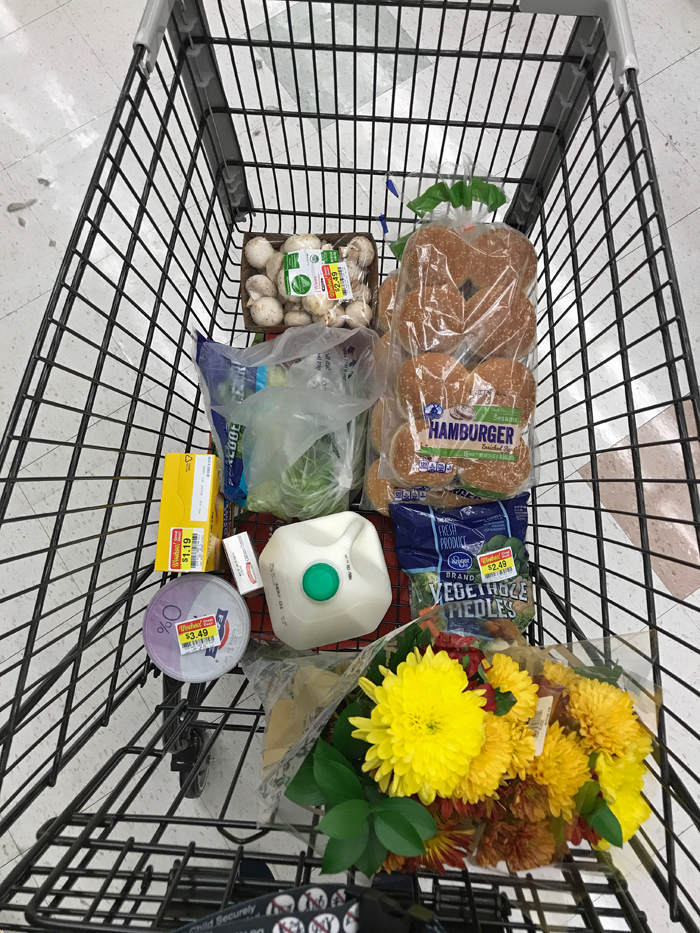 A close up of a grocery cart