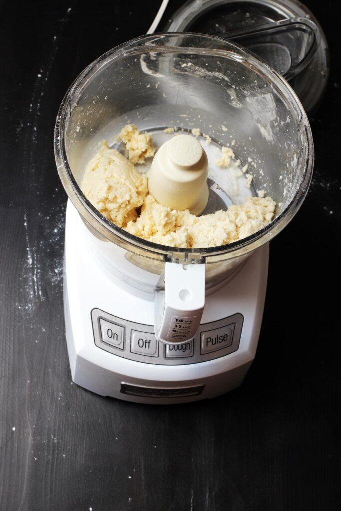 pie dough in food processor