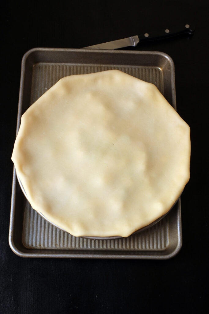 top crust folded under
