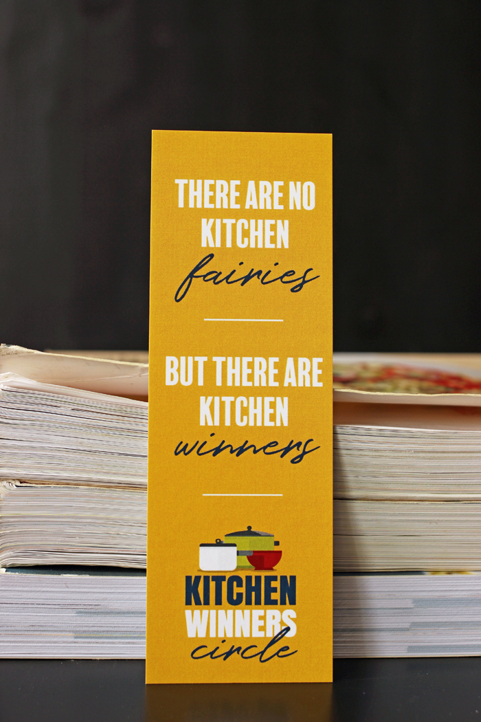 kitchen winners circle bookmark and cookbooks