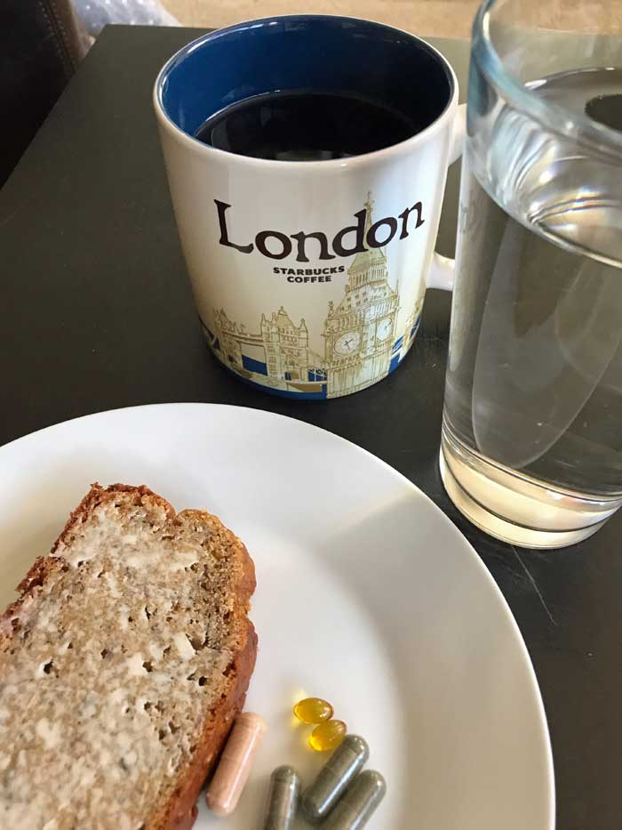 banana bread vitamins tea
