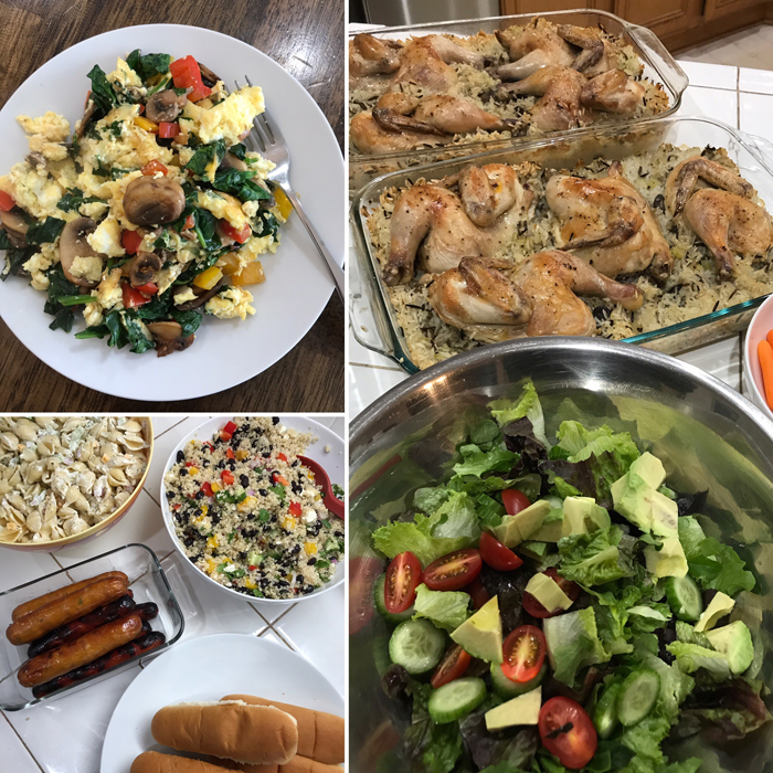 collage of pantry challenge meals day 3