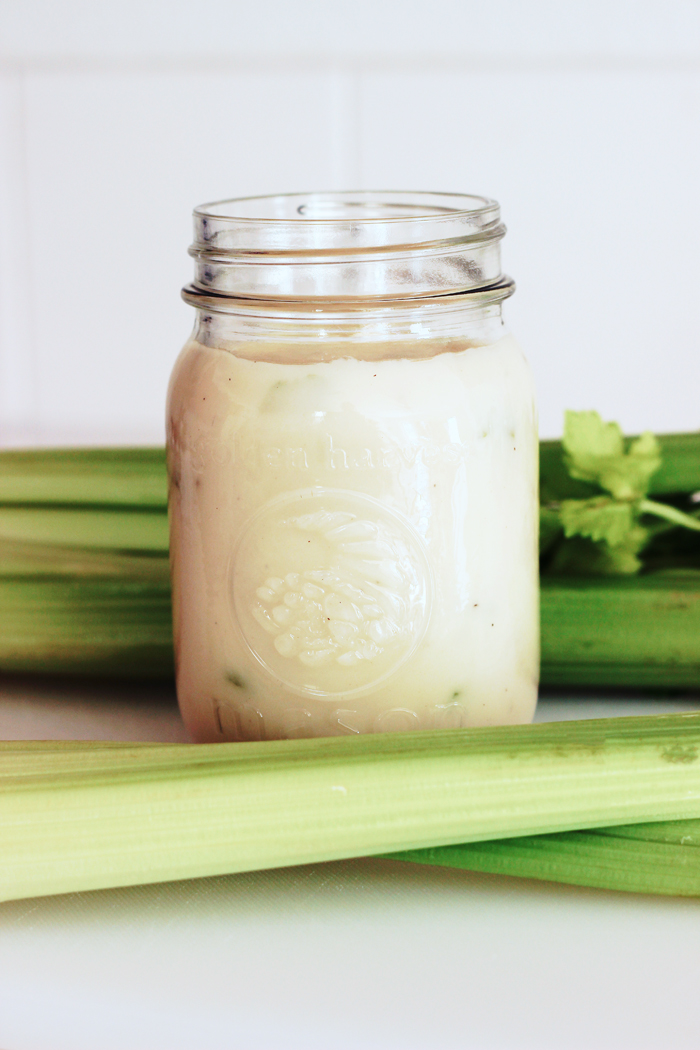 Homemade Cream of Celery Soup for Cooking