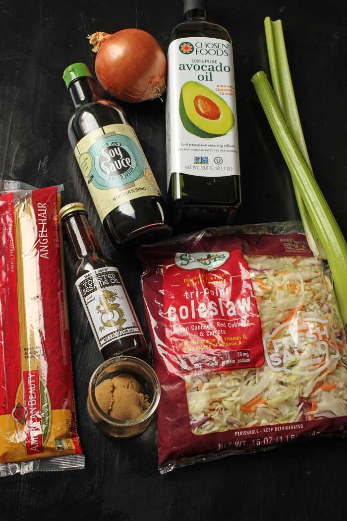ingredients to make chow mein
