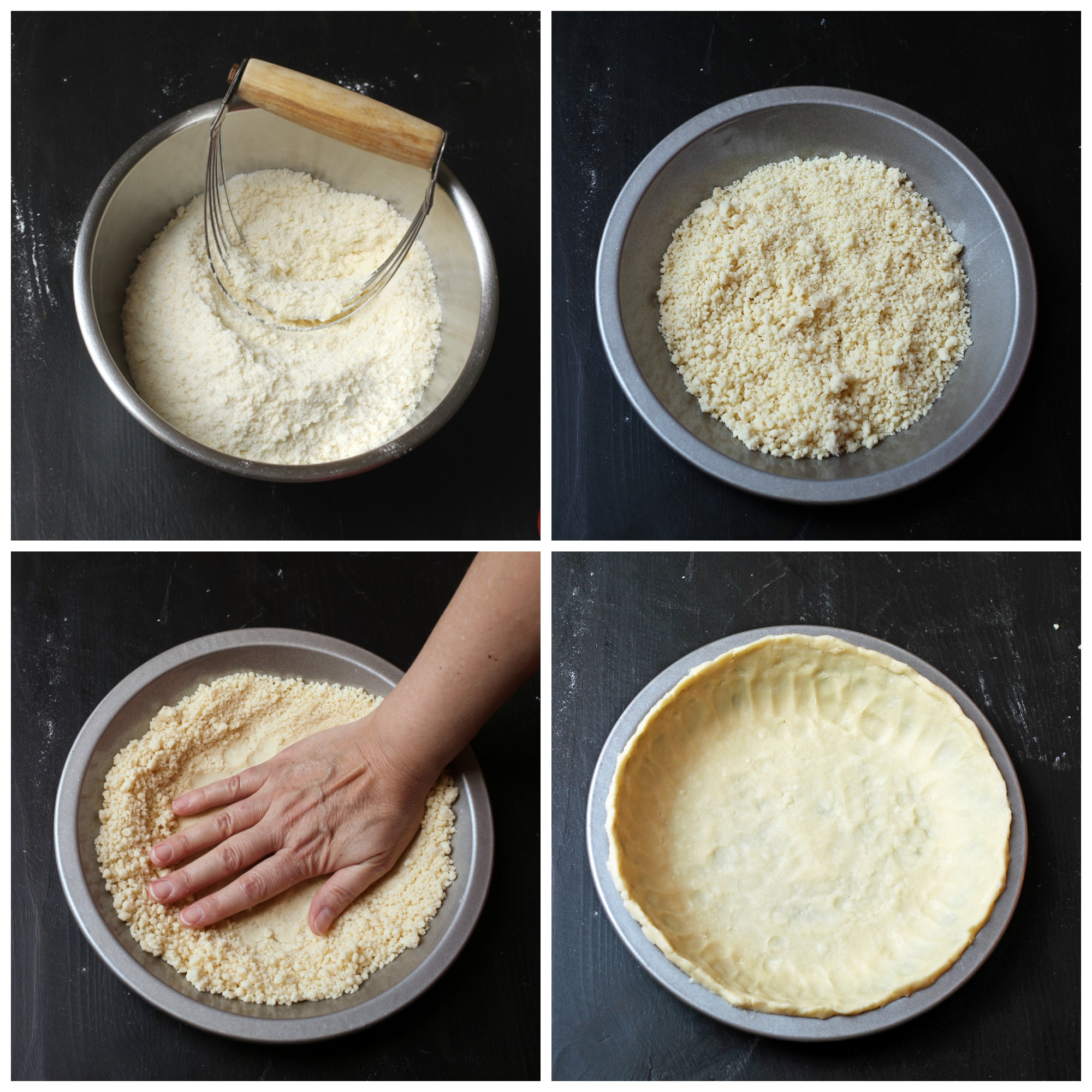 step by step images of making pie crust