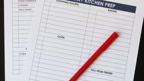 meal prep checklist