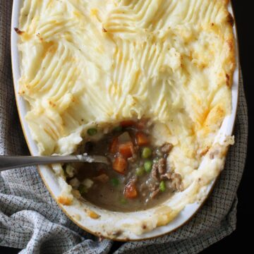 shepherd's pie ready to serve