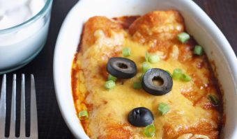 cheese enchiladas in single serving dishes