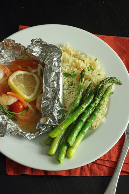 Easy Fish & Shrimp Packets