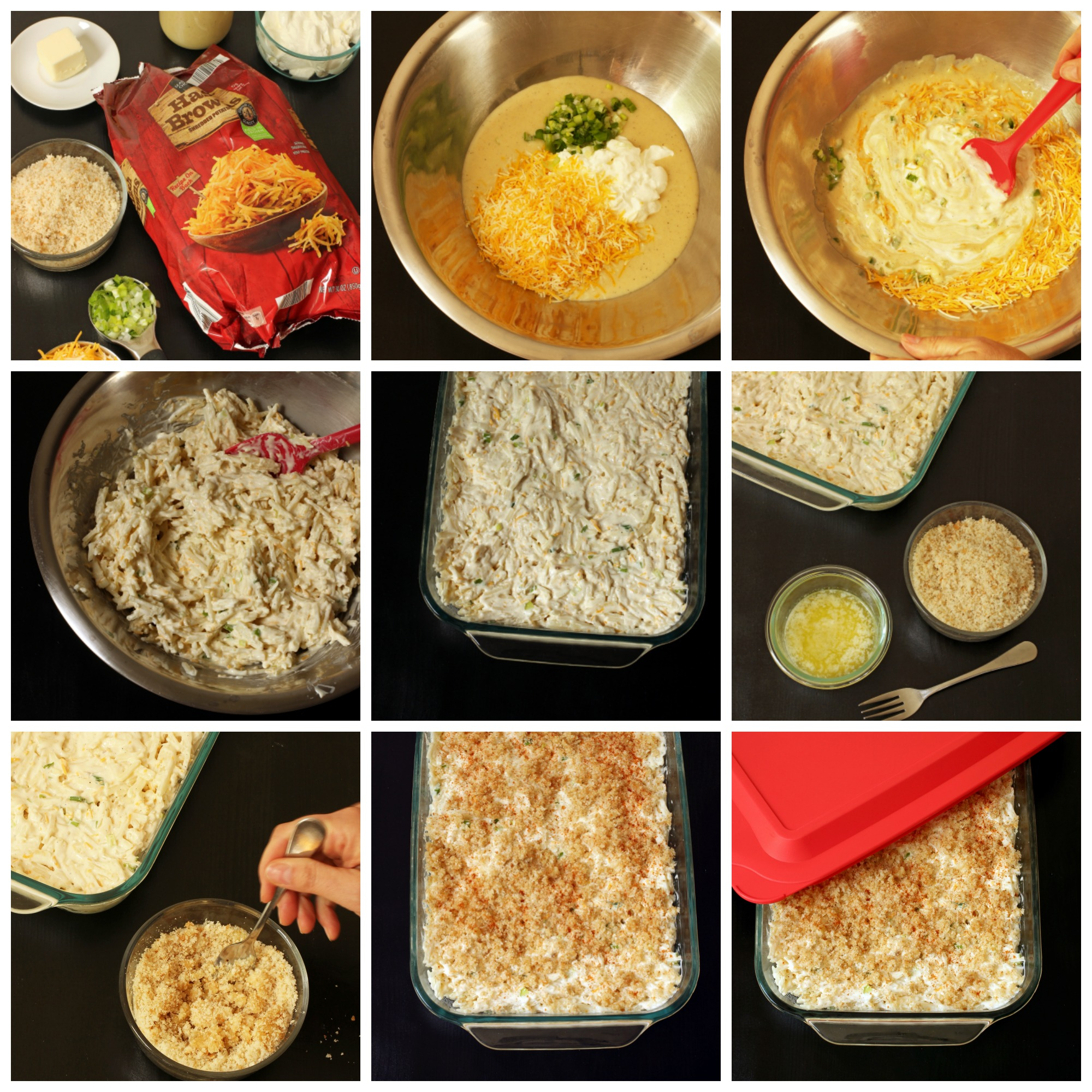 step by step photos of how to make cheesy potatoes