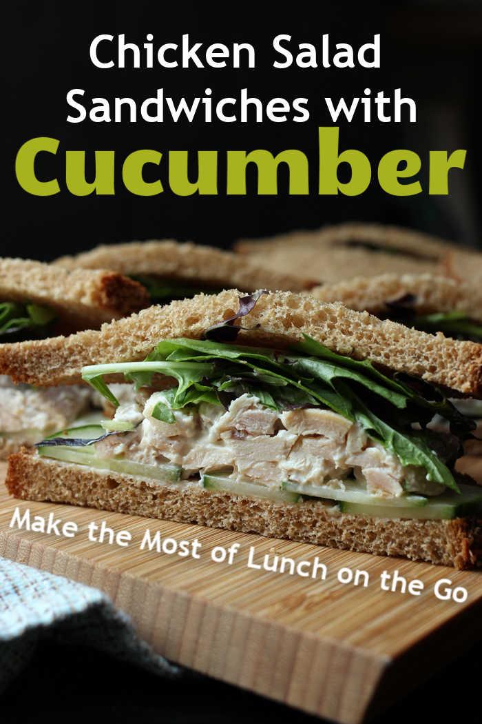 A chicken salad sandwich cut in half