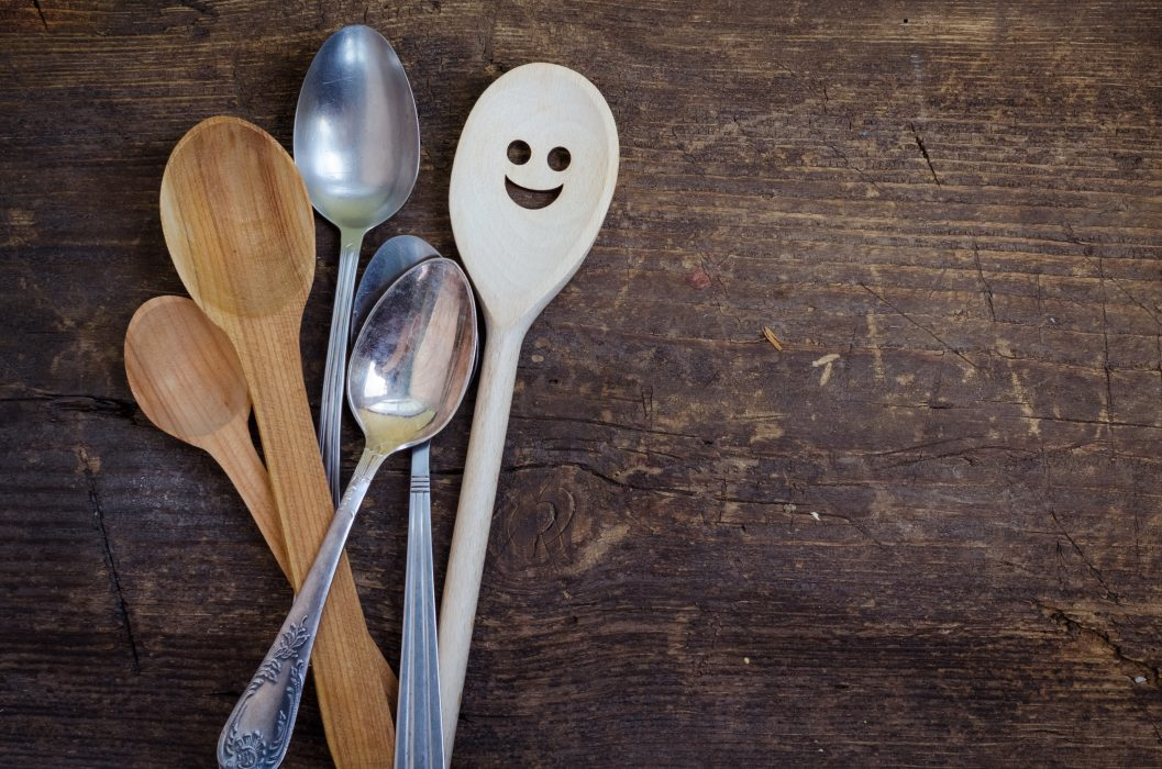 spoon with smiley face