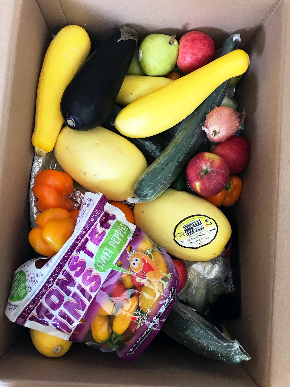 box of imperfect produce