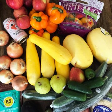 imperfect produce delivery foods on table