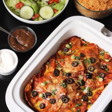 enchilada in casserole crockpot