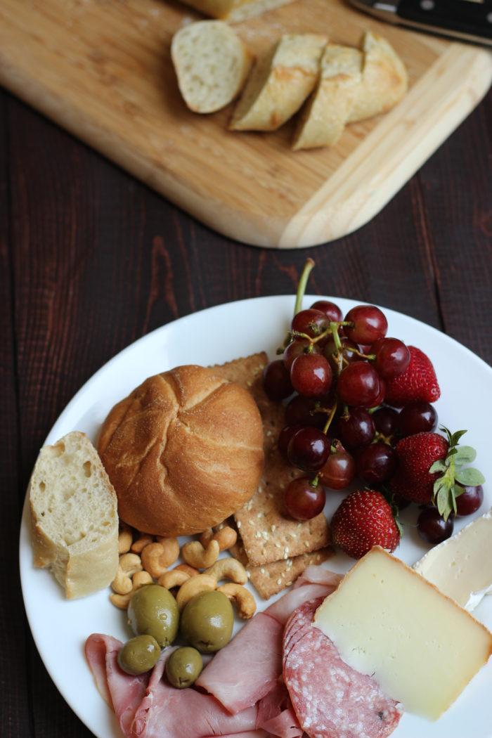 snacks dinner plate