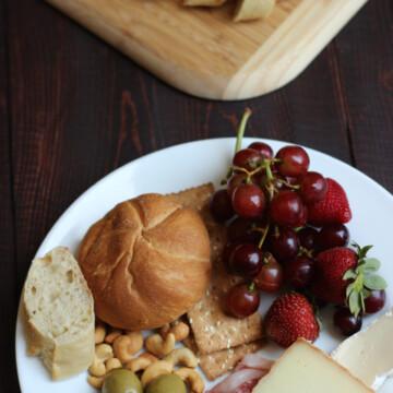 snacky dinner on a plate