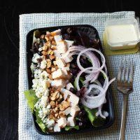 meal prep box with salad