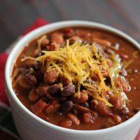 A close up of a bowl of taco soup