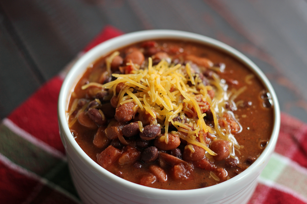 taco soup topped with cheese