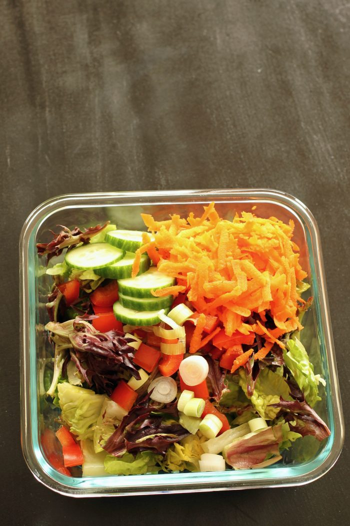 one basic meal prep salad