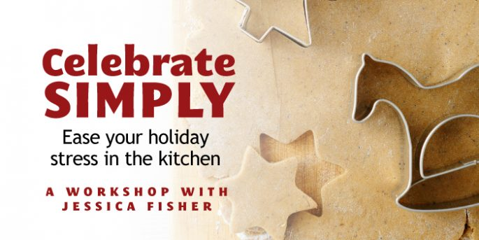 advertisement for celebrate simply workshop
