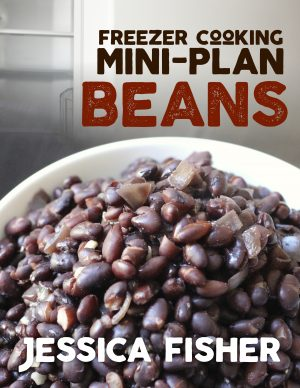mini freezer cooking plan beans cover